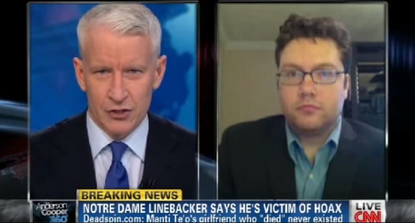 Anderson Cooper talks to Deadspin's Timothy Burke.
