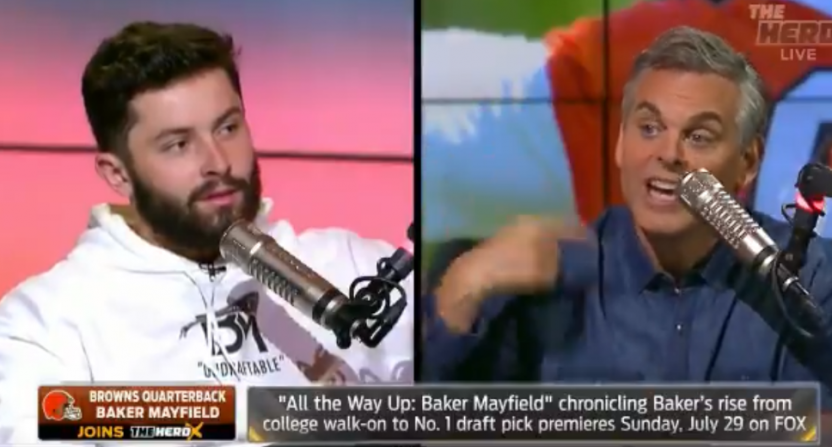 Baker Mayfield Colin Cowherd