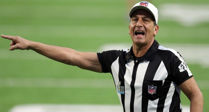 Gene Steratore during Super Bowl LII.