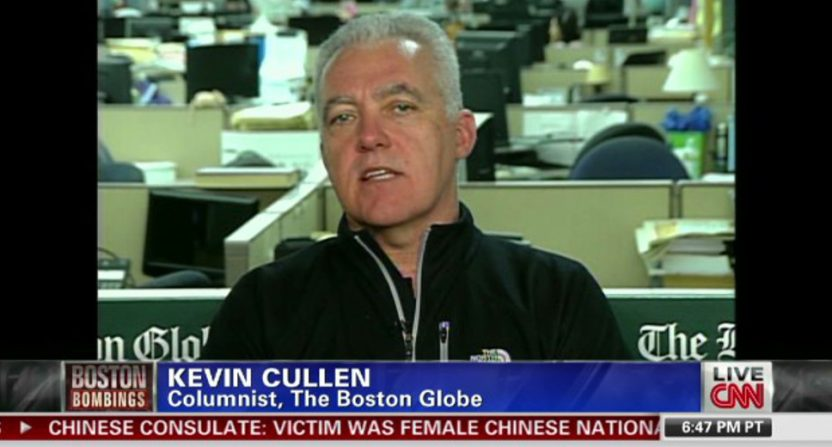 Kevin Cullen of the Boston Globe appearing on CNN in 2013.