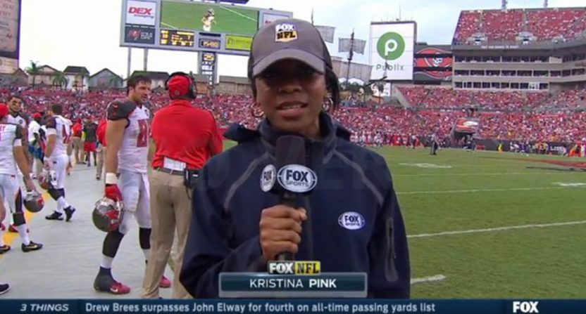 Kristina Pink on Fox's NFL coverage.