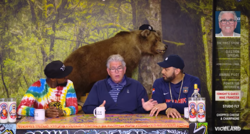Mike Francesa on Viceland's Desus & Mero.