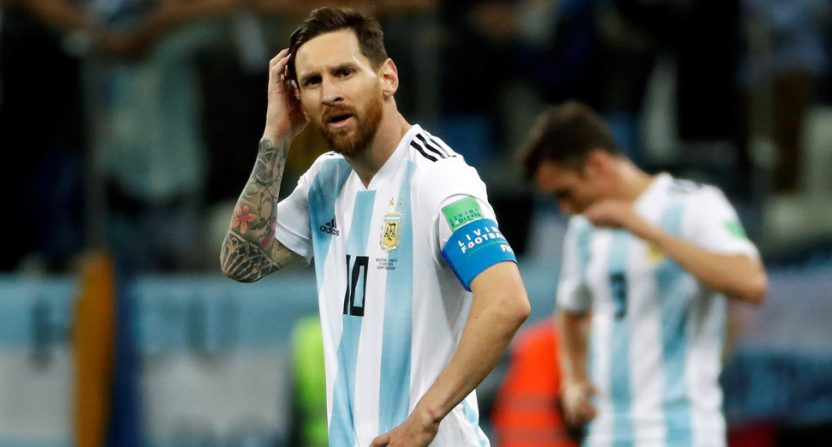 Argentina's World Cup loss to Croatia ended with a sad shot of Lionel Messi.