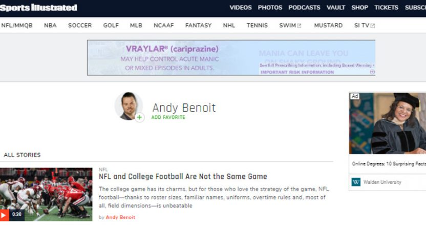 Andy Benoit's take on college football.