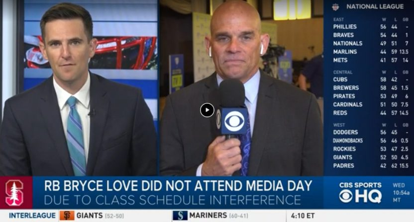 Dennis Dodd went in on Bryce Love for skipping Pac-12 Media Day for class.