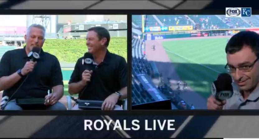 Jason Benetti singing on the Royals broadcast.