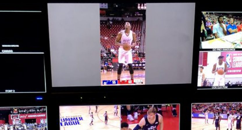 Vertical video at the NBA Summer League.