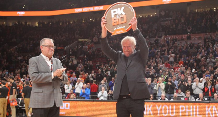 Phil Knight at the 2017 tournament in his honor.