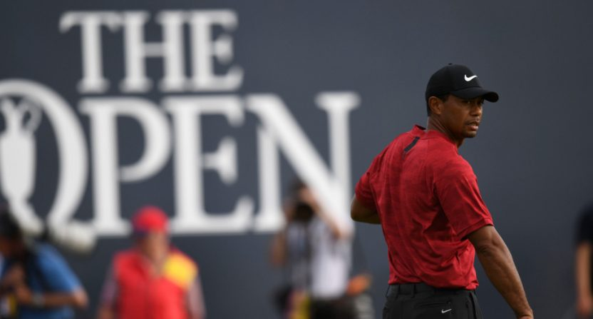 Tiger Woods at the 2018 Open Championship.