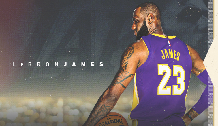 LeBron James with the Lakers.