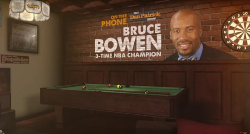 Bruce Bowen on The Dan Patrick Show.
