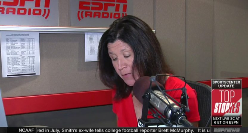 "Christine Lisi reporting on ""ESPN's Brett McMurphy."""