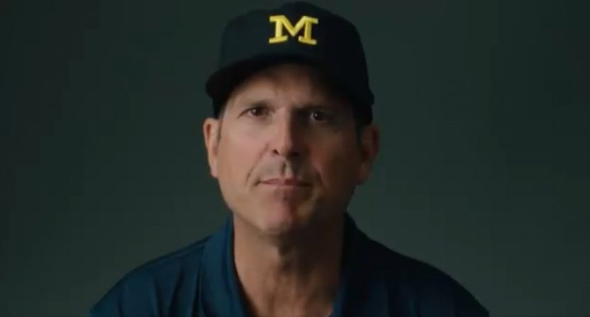 Jim Harbaugh is one of 12 Big Ten coaches appearing in a new ad about Comcast dropping BTN.