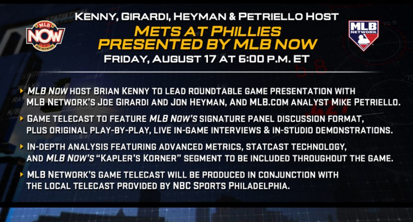 MLB Network's stats-focused broadcast.