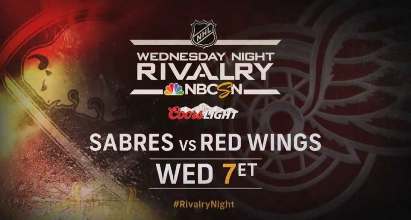 A graphic from a NBCSN Wednesday Night Rivalry broadcast.