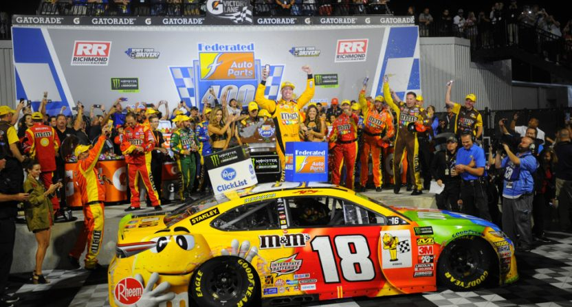 NASCAR's Richmond race, won by Kyle Busch, saw the lowest Cup Series rating since at least 2000.