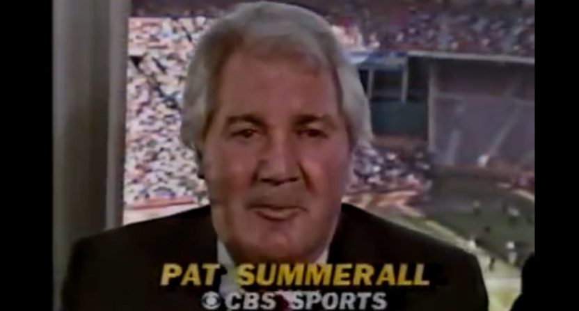 Pat Summerall on CBS
