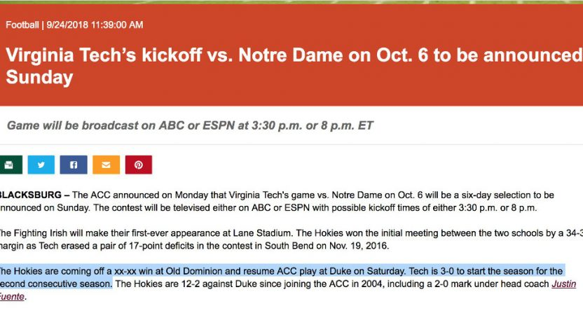 This Virginia Tech press release went very wrong.