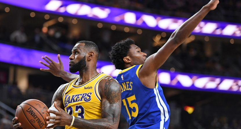 f8bba35d920 Warriors-Lakers is the highest rated NBA preseason game in ESPN history