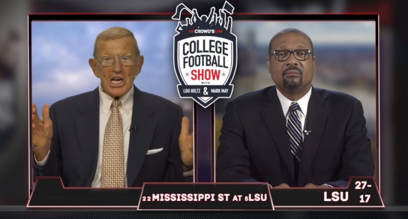 Lou Holtz and Mark May have a new show.