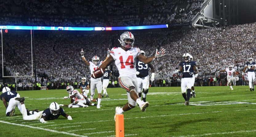 CFB ratings saw Ohio State-Penn State dominate.