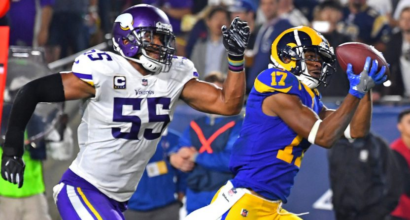 Fox saw big year-over-year growth for Week 1, boosted by Vikings-Rams on Thursday Night Football.