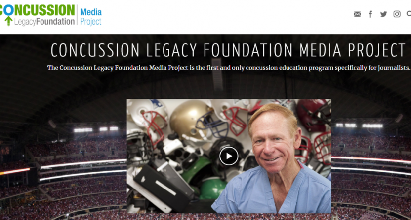 The Concussion Legacy Foundation Media Project website.
