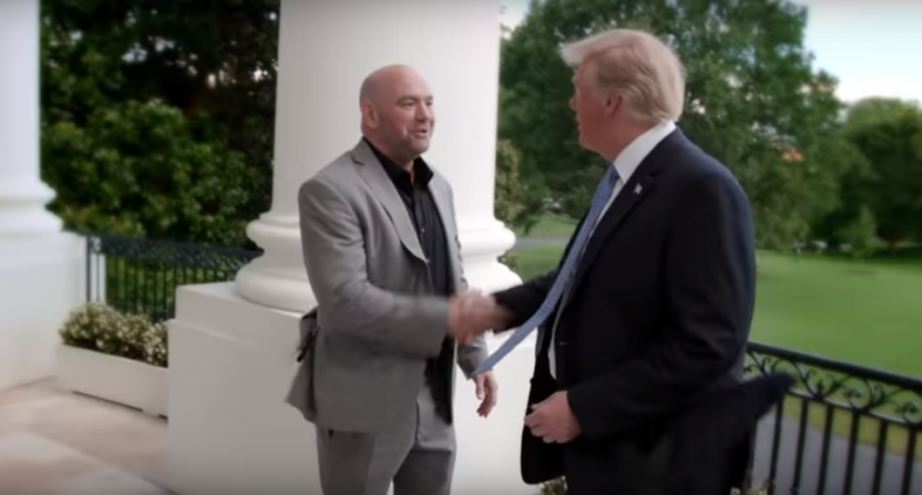 Dana White and Donald Trump.