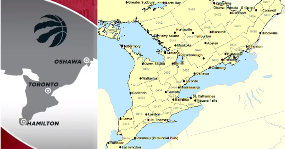 Map Of Canada Toronto Ontario.The Map Of Ontario Espn Showed On The Jump Was Hilariously Inaccurate