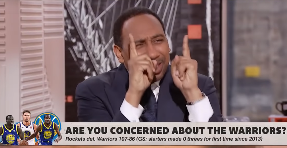 "Stephen A. Smith says he wants to move to L.A. and maybe host a late-night show or ""a show on CNN or Fox News"""