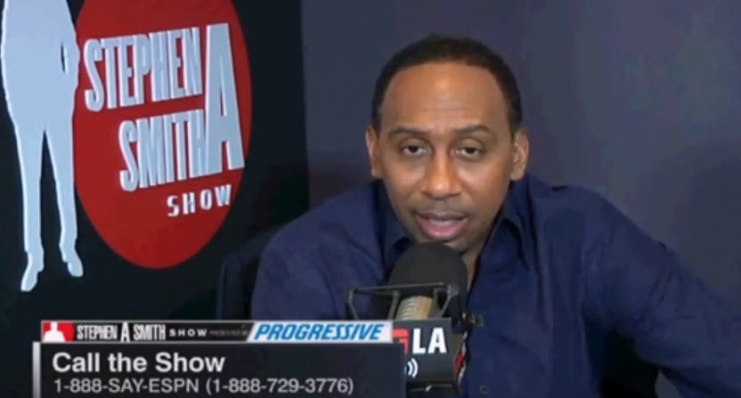 Stephen A. Smith on his radio show.