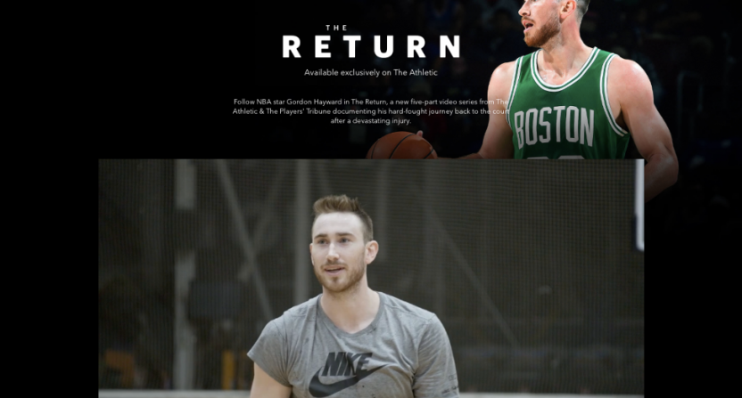 The Athletic's video series on Gordon Hayward.