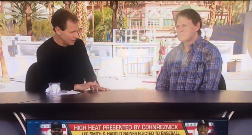 Chris Russo and Tony La Russa on MLBN.