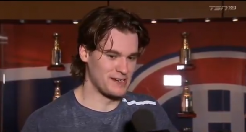 Jonathan Drouin's comments on the Ottawa Senators.