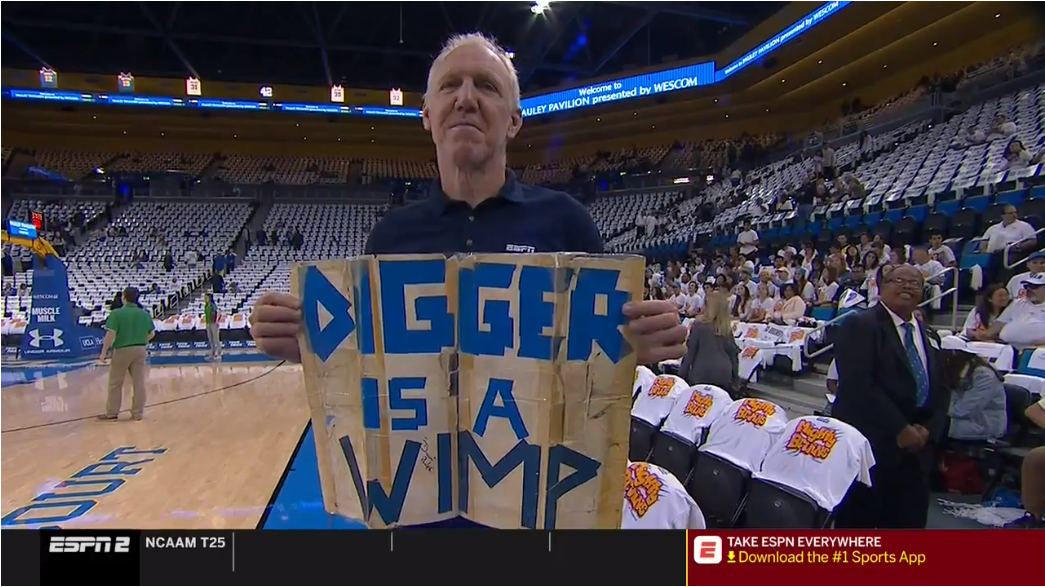 Bill Walton to Digger Phelps: 'Who is this? I thought you were dead'