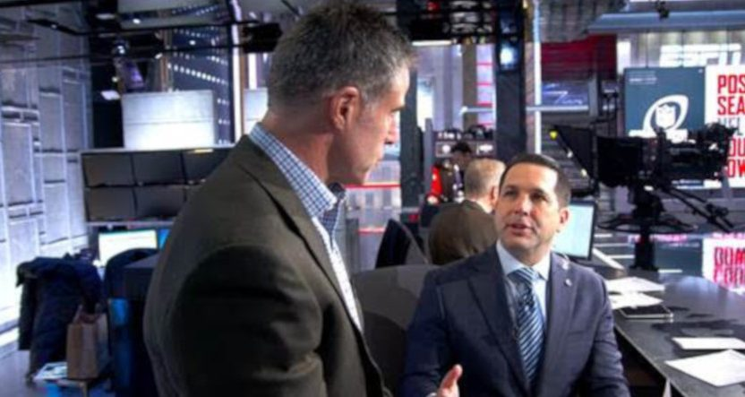 ESPN's Adam Schefter and HBO's Jon Frankel.