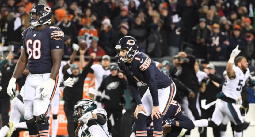 Bears-Eagles brought the weekend's best ratings, a year-over-year rise but below some past ones.