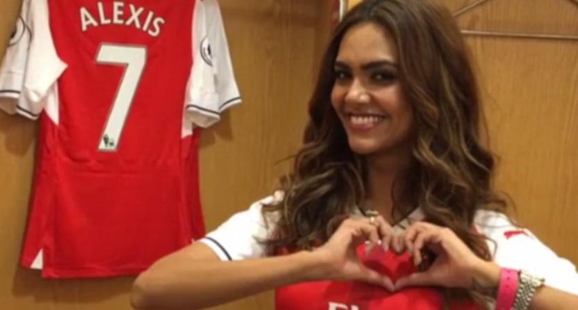 Esha Gupta at Arsenal.
