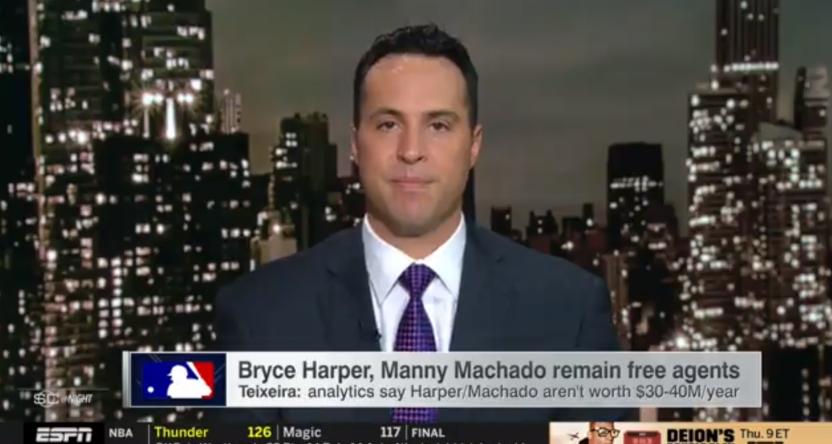 Mark Teixeira on SportsCenter.