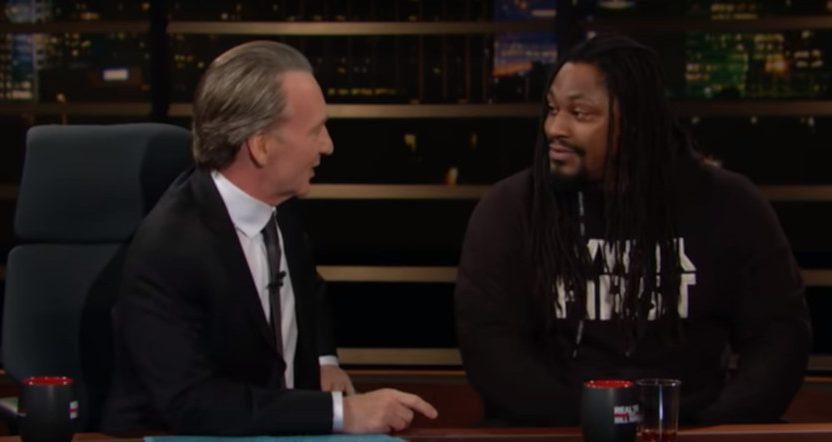 Marshawn Lynch on Real Time with Bill Maher.