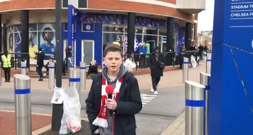 Max Hayes filming at Chelsea.