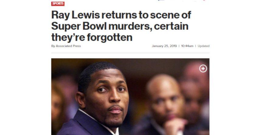 The NY Post's Ray Lewis headline.