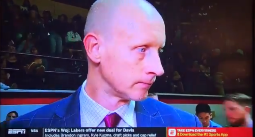 Chris Mack's ESPN interview with Allison Williams.