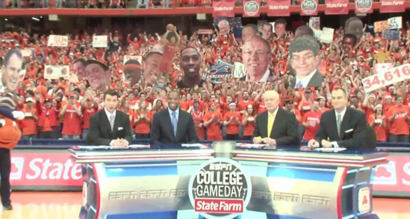 College GameDay at Syracuse in 2010.