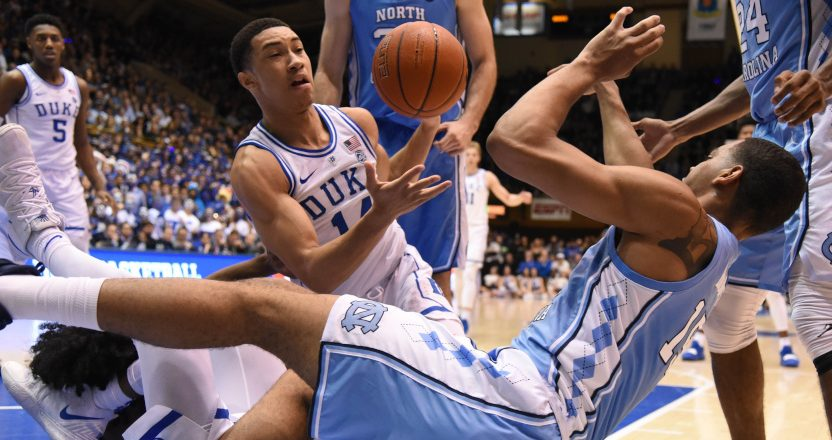 The UNC-Duke game pulled a huge rating.