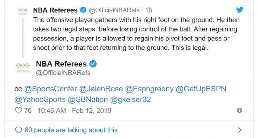 d510e6430 The official NBA Refs account providing more interaction on calls is going  great