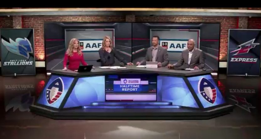 Rod Woodson on the AAF halftime show.