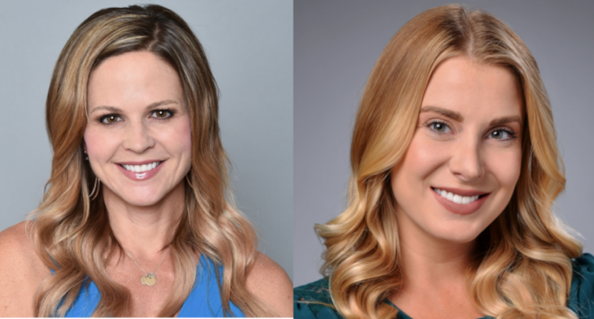 Shannon Spake and Kaitlyn Vincie.