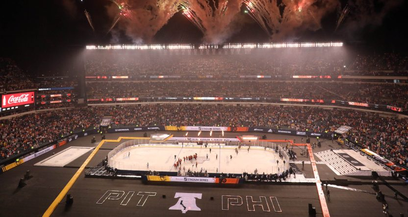 The Penguins-Flyers Stadium Series game.