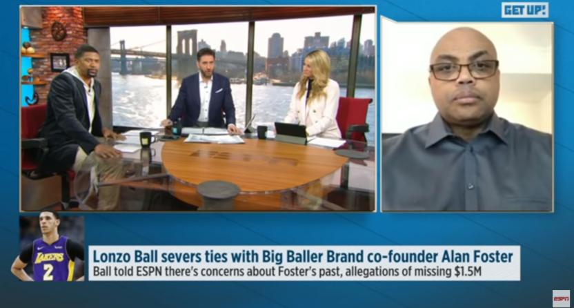 Charles Barkley blasting LaVar Ball on Get Up.